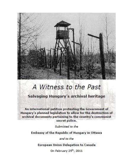 Kanadai petíció a magyar levéltári anyag megmentéséért: 1400 támogató