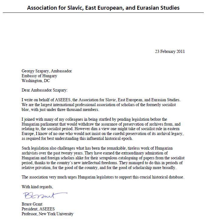 Association For Slavic East European And Eurasian Studies Letter